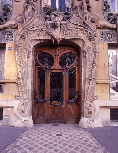Art Nouveau Doorway in Paris